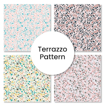 Ensemble de modèles de terrazzo - collection de modèles sans couture