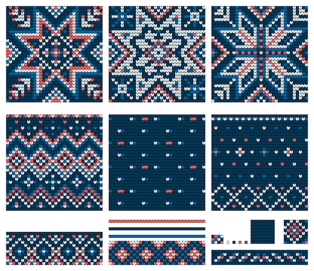 Ensemble de modèles à tricoter norwegian star