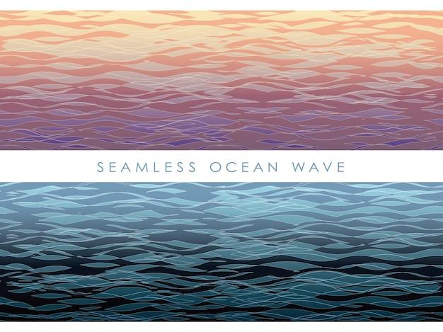 Ensemble de modèles de vagues sans soudure de vecteur isolé sur un blanc