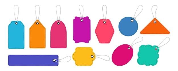 Ensemble de modèles de vente d'étiquettes de prix colorées offre spéciale de grande vente