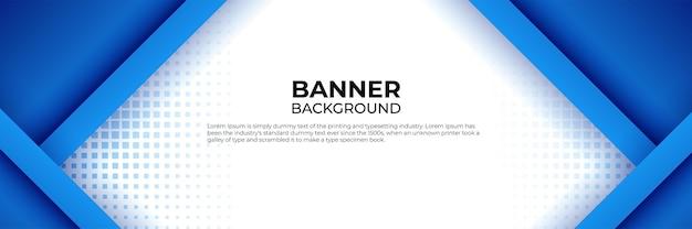 Ensemble de modèles web de conception de bannière de technologie bleue moderne abstraite. bannière web d'en-tête horizontale. modèle de fond de modèle de bannière de conception graphique abstraite de vecteur.