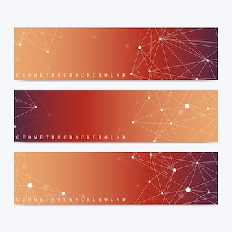 Ensemble moderne de communication de bannières vectorielles
