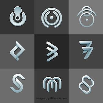 Ensemble moderne de logos abstraites