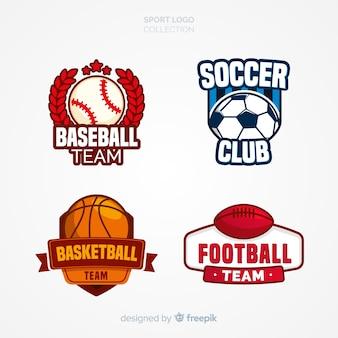 Ensemble moderne de logos de sports abstraits
