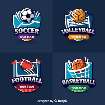 Ensemble moderne de logos de sports abstraits
