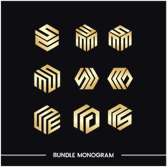 Ensemble de monogrammes de modèles de conception de logo