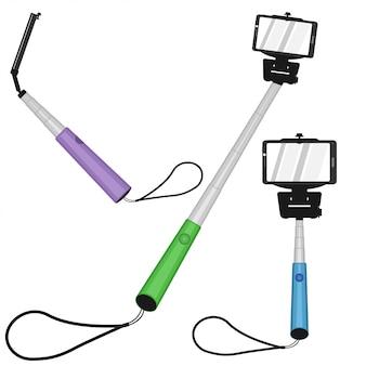 Ensemble de monopodes selfie