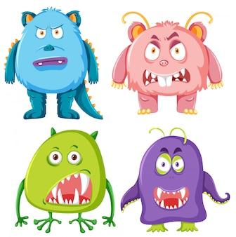 Ensemble de monstre effrayant