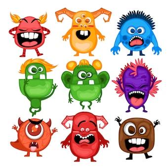 Ensemble de monstres mignons