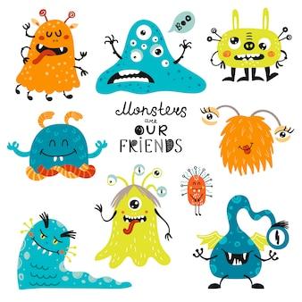 Ensemble de monstres.