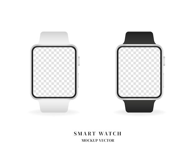 Ensemble de montre intelligente. montre intelligente vierge isolée sur fond blanc.