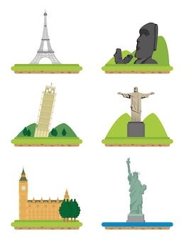 Ensemble de monuments du monde