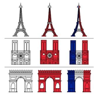 Ensemble de monuments de paris