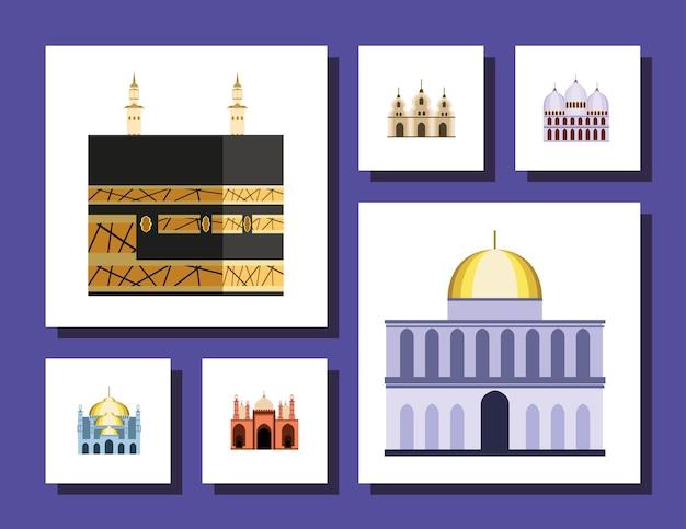 Ensemble mosquée et temple