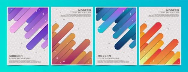Ensemble de motif de couvertures minimales colorées abstraites