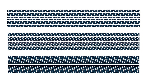 Ensemble de motif de marque d'impression de piste de pneu
