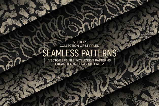 Ensemble de motifs abstraits sans soudure pointillés