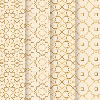 Ensemble de motifs arabes linéaires