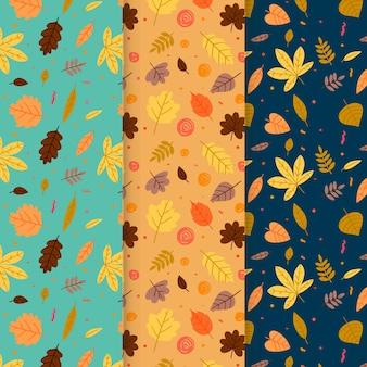 Ensemble de motifs d'automne