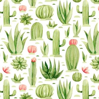 Ensemble de motifs de cactus