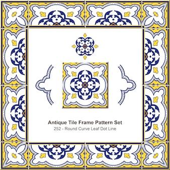 Ensemble de motifs de cadre de carreaux anciens