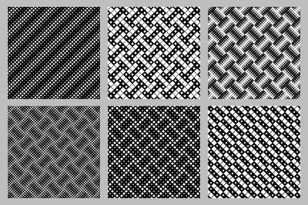 Ensemble de motifs carrés diagonaux géométriques