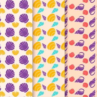 Ensemble de motifs de coquillage sans soudure
