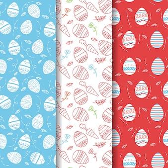 Ensemble de motifs créatifs de pâques