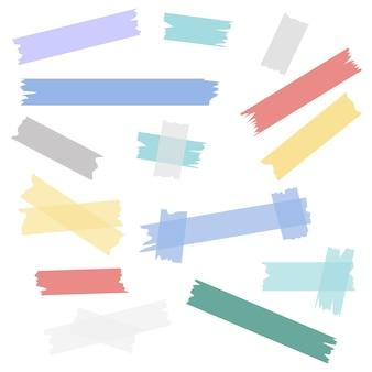 Ensemble de motifs dépouillés colorés