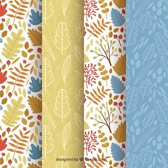 Ensemble de motifs, éléments d'automne