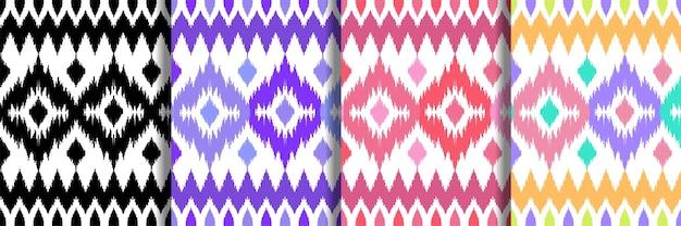 Ensemble de motifs ethniques sans couture pour les imprimés textiles de maison