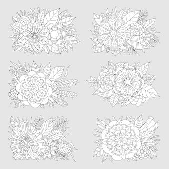 Ensemble de motifs floraux.
