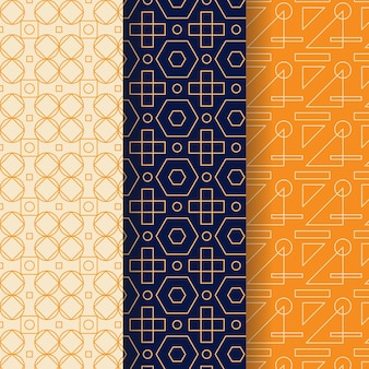 Ensemble de motifs géométriques minimal