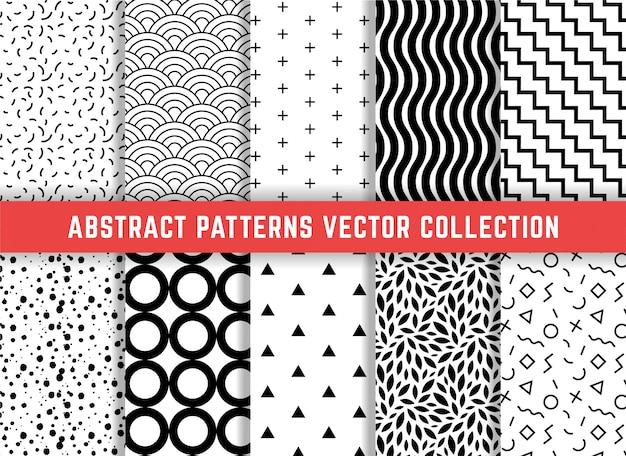 Ensemble de motifs géométriques minimalistes