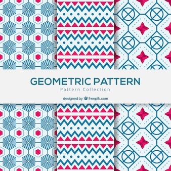Ensemble de motifs géométriques réels