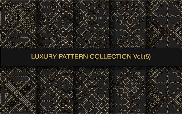 Ensemble de motifs géométriques sans couture de luxe
