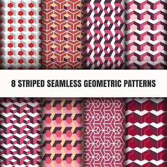 Ensemble de motifs géométriques sans soudure rayés