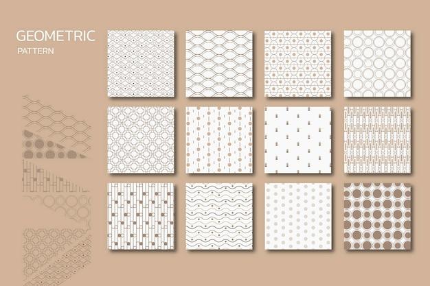 Ensemble de motifs géométriques sans soudure