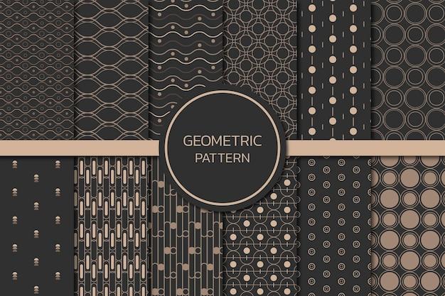 Ensemble De Motifs Géométriques Sans Soudure Vecteur gratuit