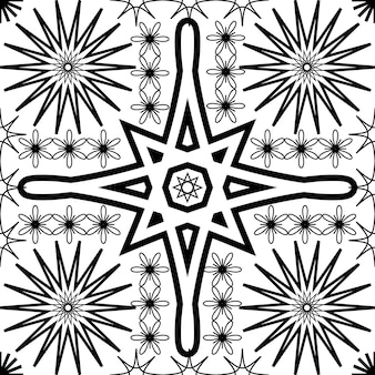 Ensemble de motifs géométriques simples et abstraits sans soudure motif floral symbole texture illustration vectorielle