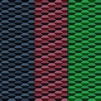 Ensemble de motifs géométriques sombres