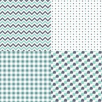 Ensemble de motifs géométriques