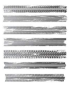 Ensemble de motifs graphiques monochromes