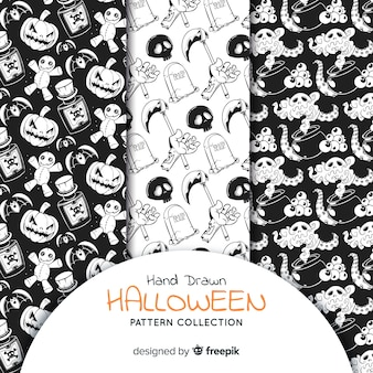 Ensemble de motifs d'halloween