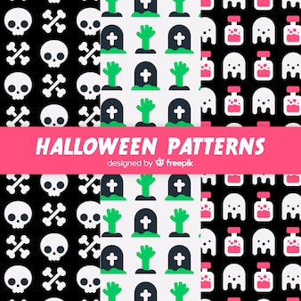 Ensemble de motifs d'halloween