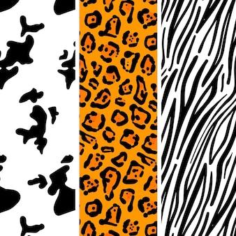 Ensemble de motifs imprimés animaux