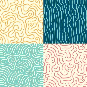 Ensemble de motifs de lignes arrondies