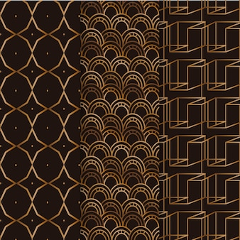 Ensemble de motifs de luxe géométriques