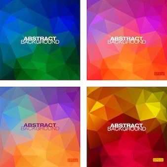 Ensemble de motifs modernes géométriques colorés