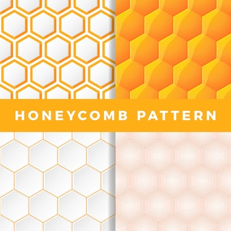 Ensemble de motifs en nid d'abeille.